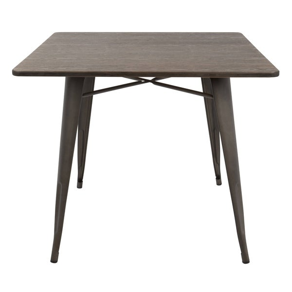 Oregon 36quot industrial farmhouse dining table free for Homegoods industrial furniture