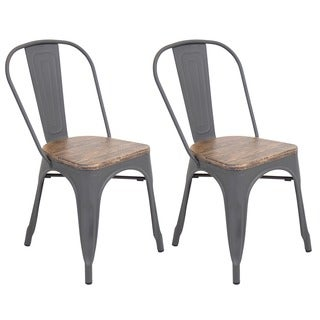 Oregon Modern Industrial Dining Chair - Set of 2