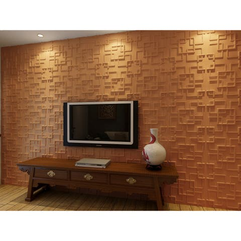 Plant Fiber Rex Design 3D Wall Panels (Case of 10) - Off White