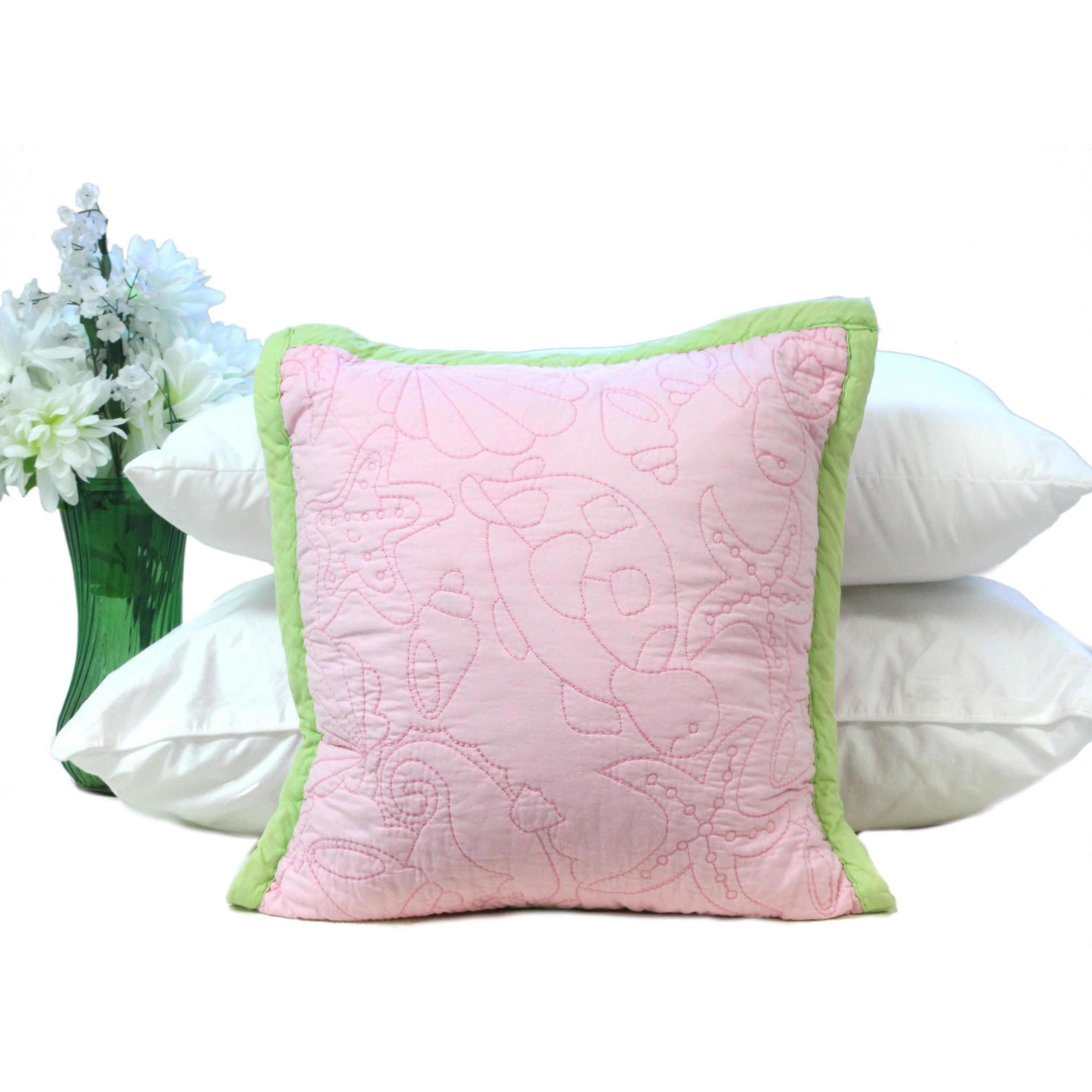 Pink Ocean Creatures Girl's 16-inch Decorative Pillow Sha...