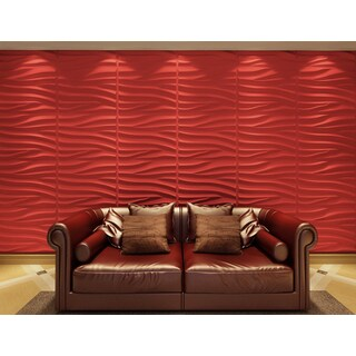 3D Wall Panels Plant Fiber Sands Design (6 Panels Per Box)