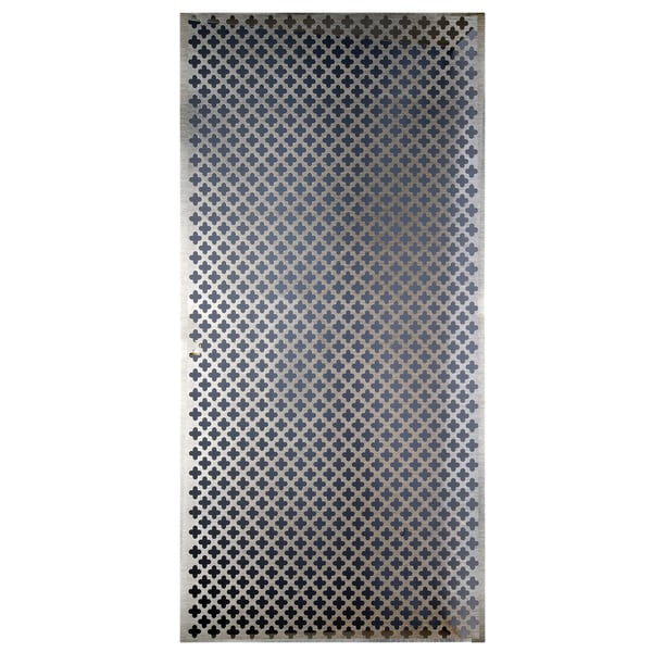 Shop Silver Colored Metal Sheet 12inx24in Cloverleaf