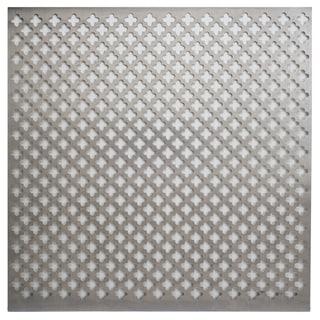Silver Colored Metal Sheet 12inX12in-Cloverleaf