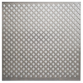 Silver Colored Metal Sheet 12inX12in-Cloverleaf