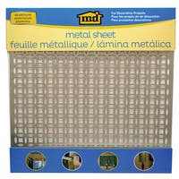 Silver Colored Metal Sheet 12inX12in-Elliptical