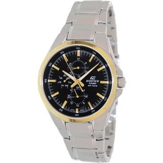 Casio Men's Edifice EF339DB-1A9V Silvertone Stainless Steel Quartz Watch with Black Dial