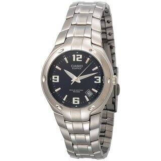 Casio Men's Edifice EF106D-2AV Silvertone Stainless Steel Analog Quartz Watch with Blue Dial|https://ak1.ostkcdn.com/images/products/9194841/P16367511.jpg?impolicy=medium