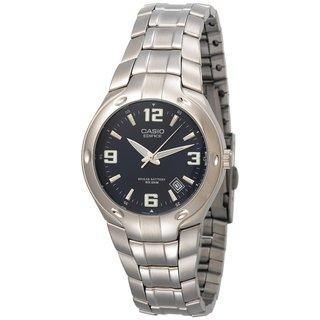 Casio Men's Edifice EF106D-2AV Silvertone Stainless Steel Analog Quartz Watch with Blue Dial