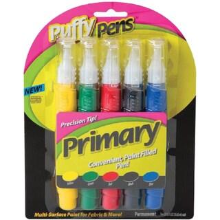 Puffy Paint Pen Set 5/Pkg-Primary