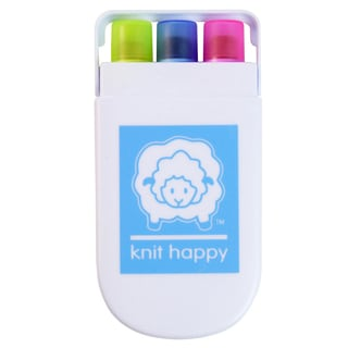 Knit Happy Gel Highlighters-Pink, Blue, & Yellow