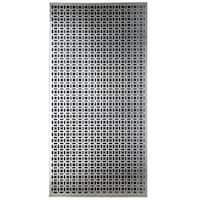 Silver Colored Metal Sheet 12inX24in-Elliptical