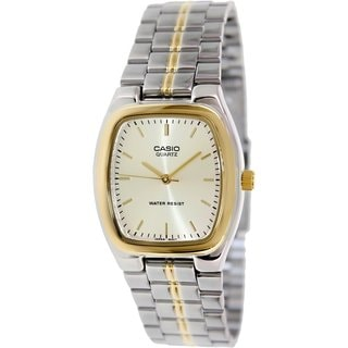 Casio Women's MTP1169G-9A Two-tone Stainless Steel Quartz Watch with Goldtone Dial