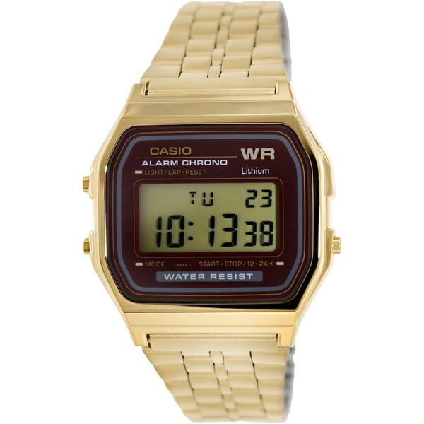 b47de2c34a1 Shop Casio Men s A-159WGEA-5DF Digital Gold-Tone Stainless Steel Watch -  Free Shipping Today - Overstock - 9195023