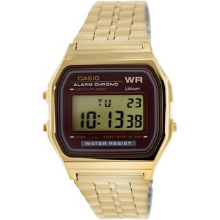 Casio Men's A-159WGEA-5DF Digital Gold-Tone Stainless Steel Watch