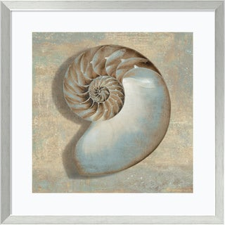 Caroline Kelly 'Aqua Nautilus' Framed Art Print 27 x 27-inch