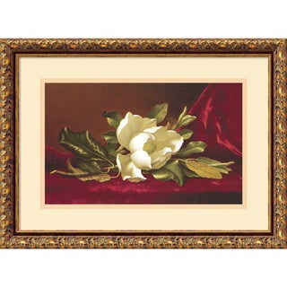 Martin Johnson Heade 'The Magnolia Flower' Framed Art Print 19 x 14-inch