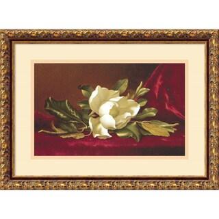 Framed Art Print 'The Magnolia Flower' by Martin Johnson Heade 19 x 14-inch