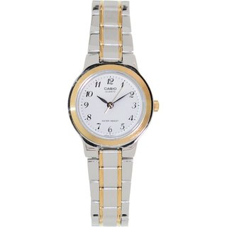 Casio Women's Core LTP1131G-7B Two-tone Stainless Steel Quartz Watch with White Dial