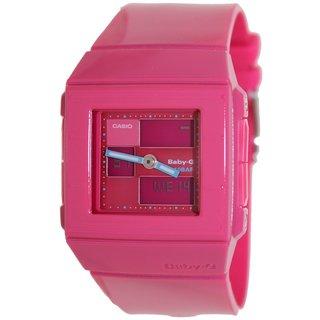 Casio Women's Baby-G BGA200-4E Pink Resin Quartz Watch with Pink Dial