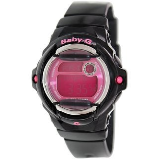 Casio Women's Baby-G BG169R-1B Black Resin Quartz Watch with Digital Dial