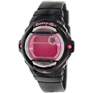 Casio Women's Baby-G BG169R-1B Black Resin Quartz Watch with Digital Dial
