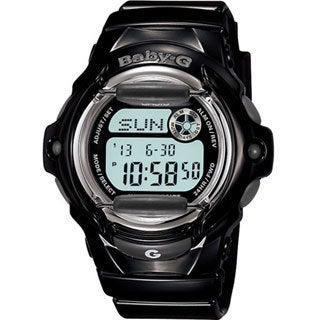 Casio Women's Baby-G BG169R-1 Black Resin Quartz Watch with Digital Dial