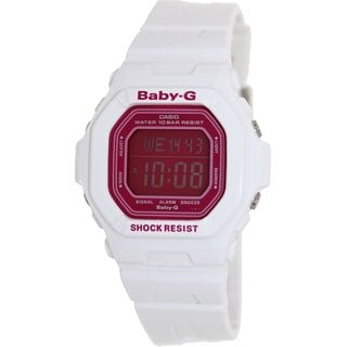 Casio Women's Baby-G BG5601-7 White Resin Quartz Watch with Pink Dial