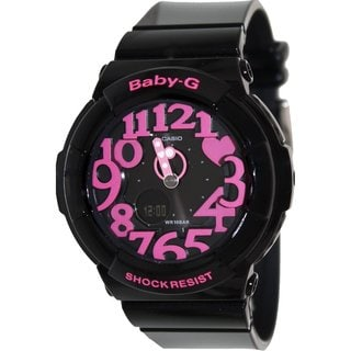 Casio Women's Baby-G BGA130-1B Black Resin Quartz Watch with Black Dial