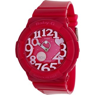 Casio Women's Baby-G Pink Resin Quartz Watch with Pink Dial