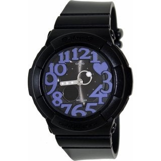 Casio Women's Baby-G BGA134-1B Black Resin Quartz Watch with Black Dial