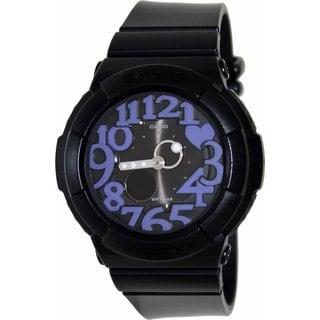 Casio Women's Baby-G BGA134-1B Black Resin Quartz Watch with Black Dial