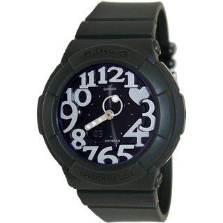 Casio Women's Baby-G BGA134-3B Green Resin Quartz Watch with Black Dial