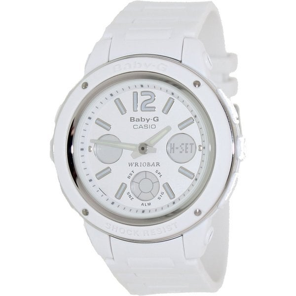 0aac13fdfb884 Shop Casio Women s Baby-G White Resin Quartz Watch with Digital Dial ...