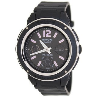 Casio Women's Baby-G BGA150-1B Black Resin Quartz Watch with Black Dial