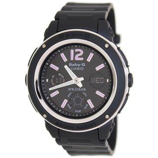 Casio Women's Baby-G BGA150-1B Black Resin Quartz Watch with Black Dial