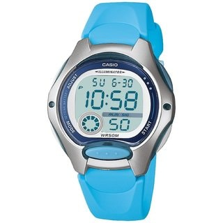 Casio Women's Core LW200-2BV Blue Resin Quartz Watch with Digital Dial