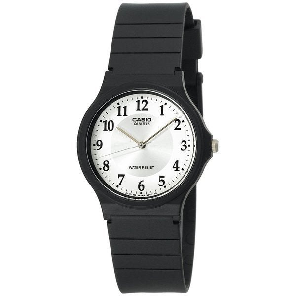 Shop casio women 39 s core black resin quartz watch with white dial free shipping on orders over for Black resin ladies watch