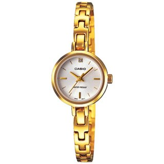 Casio Women's Core LTP1351G-7C Goldtone Stainless Steel Quartz Watch with Mother-Of-Pearl Dial