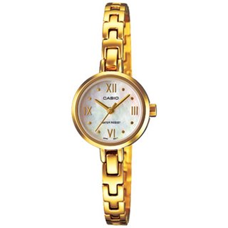 Casio Women's Core LTP1352G-7A Goldtone Stainless Steel Quartz Watch with White Dial