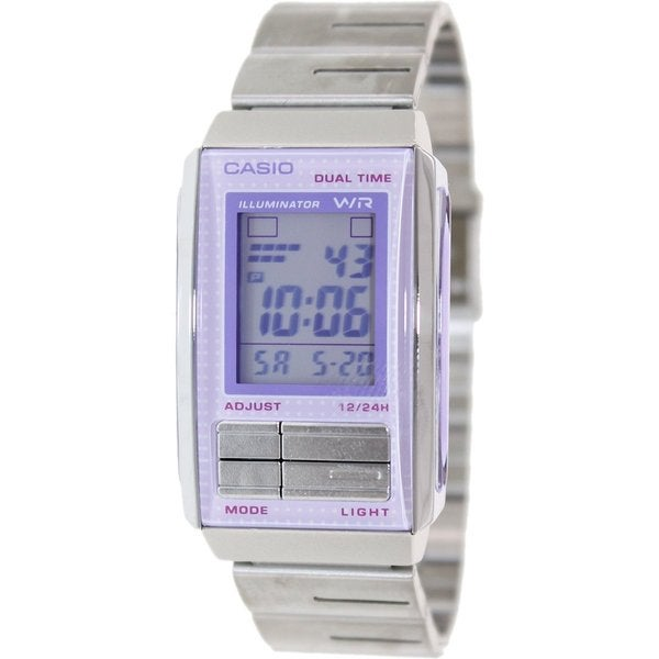 52a38725b Shop Casio Women's Futurist Silvertone Stainless Steel Quartz Watch with  Digital Dial - Free Shipping On Orders Over $45 - Overstock - 9195382