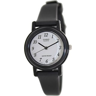 Casio Women's LQ139BMV-1B Black Resin Quartz Watch with White Dial