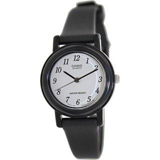 Casio Women's LQ139BMV-1B Black Resin Quartz Watch with White Dial