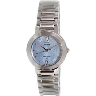 Casio Women's 'General' Stainless Steel Watch - Mother of Pearl