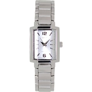 Casio Women's Silvertone Stainless Steel Analog Quartz Watch with Silvertone Dial