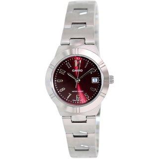 Casio Women's Stainless Steel Watch - Red