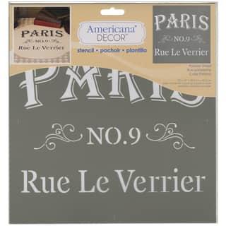 Americana Decor Stencil-Parisian Street https://ak1.ostkcdn.com/images/products/9195427/P16368017.jpg?impolicy=medium