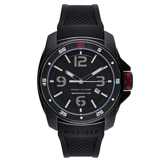 Tommy Hilfiger Men's 1790708 Black Silicone Quartz Watch