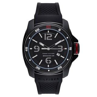 Tommy Hilfiger Men's 1790708 Black Silicone Quartz Watch
