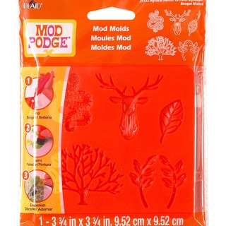 Mod Podge Mod Mold 3.75inX3.75in-Mystical Forest