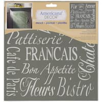 Americana Decor Stencil-French Living